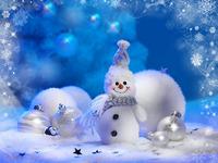 Обои для рабочего стола: Снеговик
