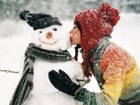 Обои для рабочего стола: Любимый снеговик
