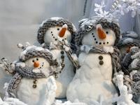 Обои для рабочего стола: Снеговики