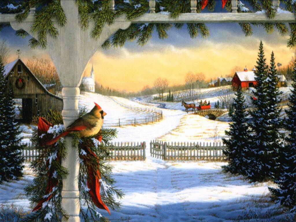 Красивые зимние открытки картинки