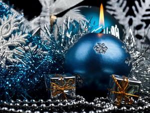 Обои Новогодняя свеча