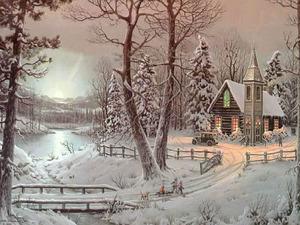 Обои Рождественский вечер