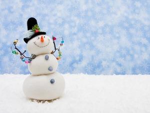 Обои Снеговик