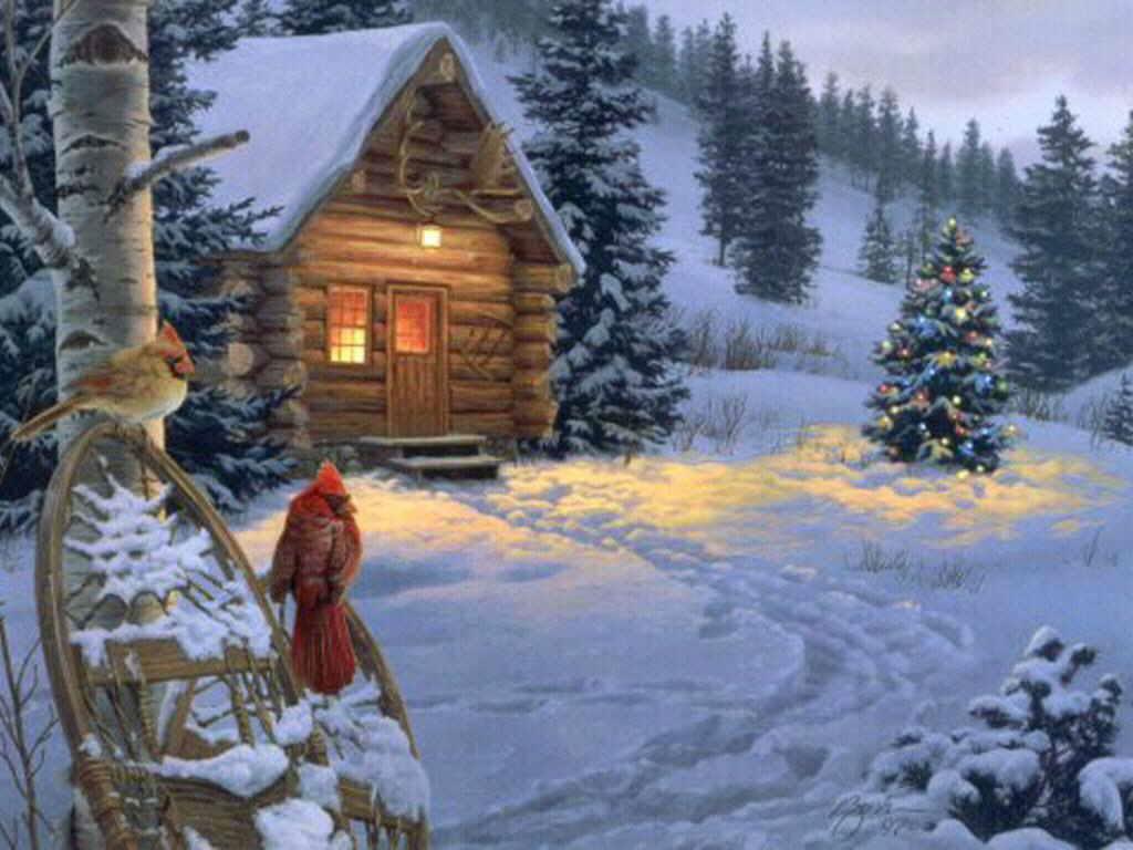фото книги одинокая избушка в снегу анимация открытки изменение
