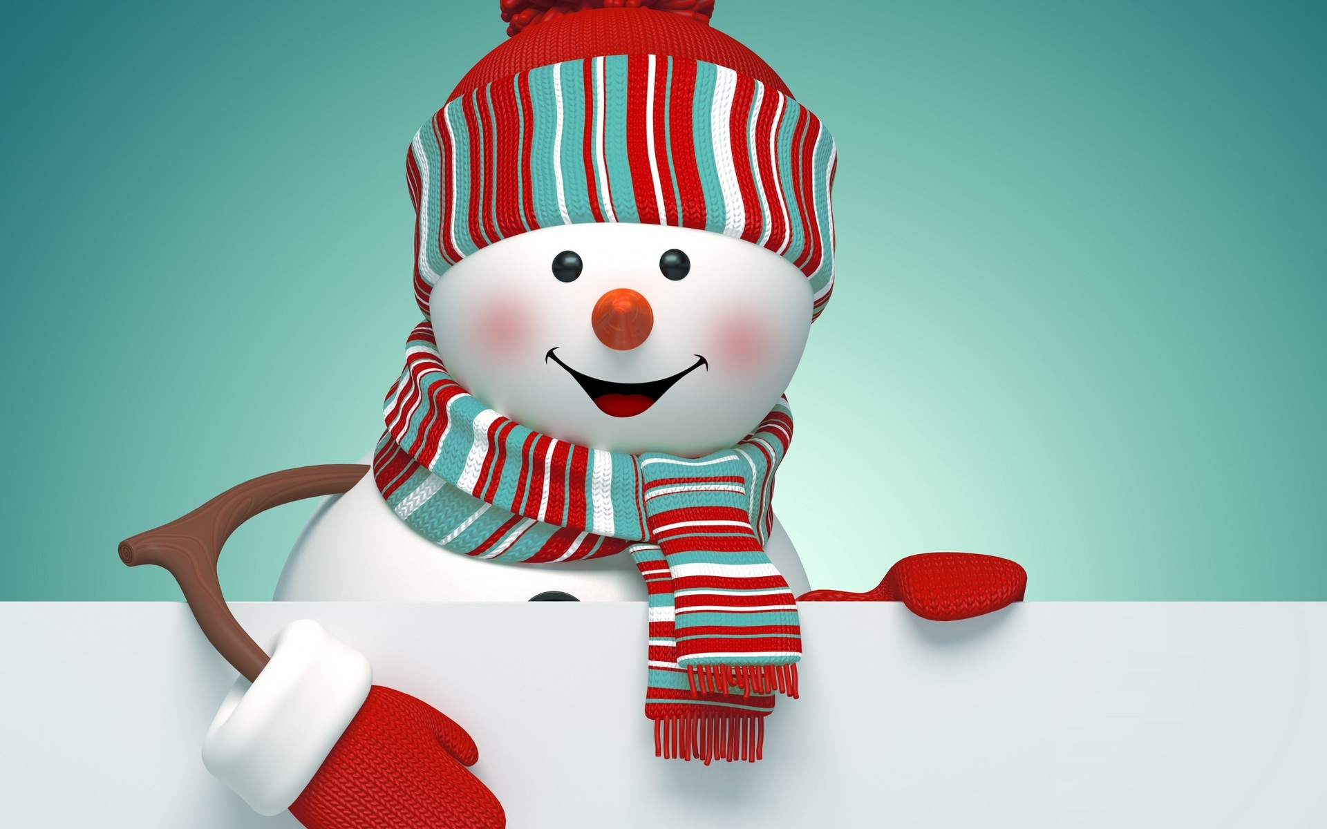 Снеговик обои рабочего стола