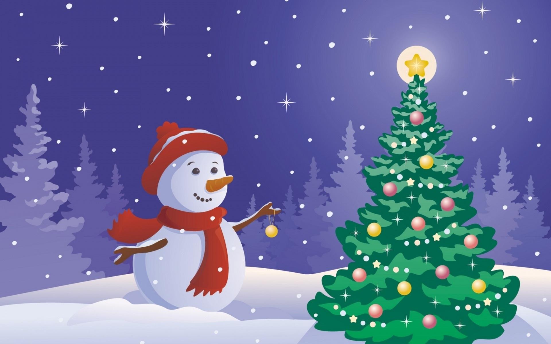 картинки мультяшного снеговика с елкой прославленный