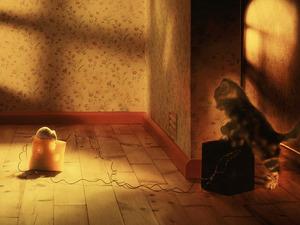 Обои Кошка и мышка