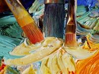 Обои для рабочего стола: Кисти и краски