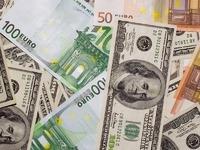 Обои для рабочего стола: Доллары и евро