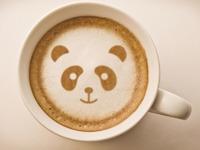 Обои для рабочего стола: Кофейная панда