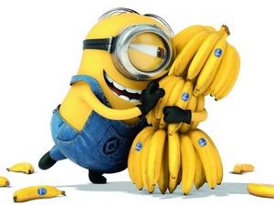 Обои Миньон с бананами
