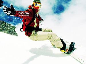 Обои Nokia Snowboard