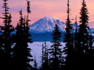 Обои Вулкан Рейнир, штат Вашингтон, США