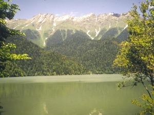 Обои Озеро Рица, Абхазия