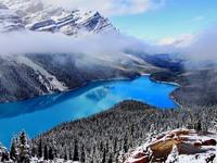 Обои для рабочего стола: Озеро в горах
