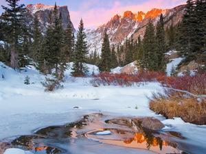 Обои Зима в горах