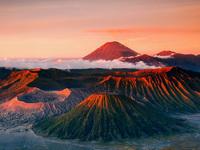 Обои для рабочего стола: Вулкан Бромо, остров Ява, Индонезия