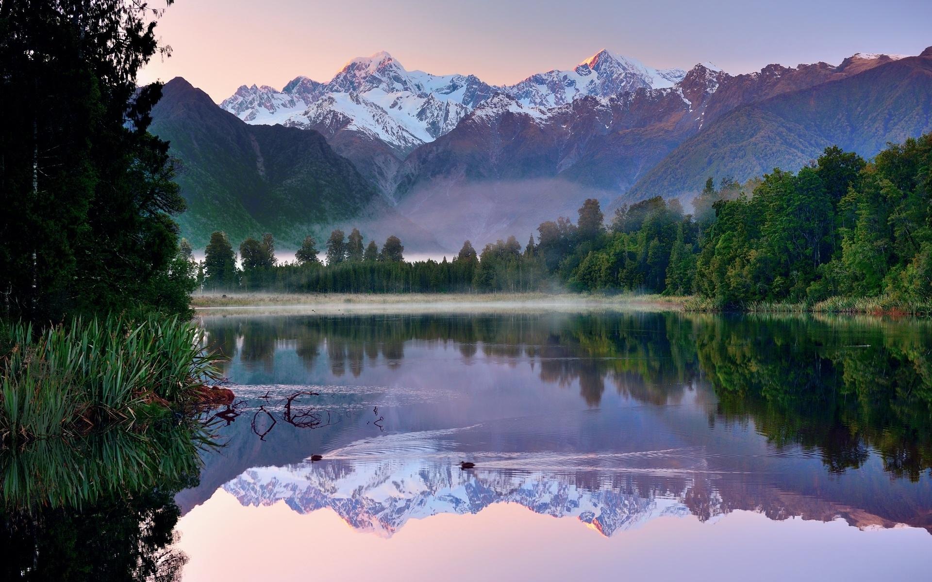 Отражение гор