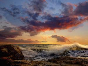 Обои Небо, море, облака