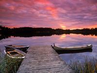 Обои для рабочего стола: На спящем озере
