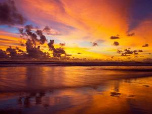Обои Оранжевый закат