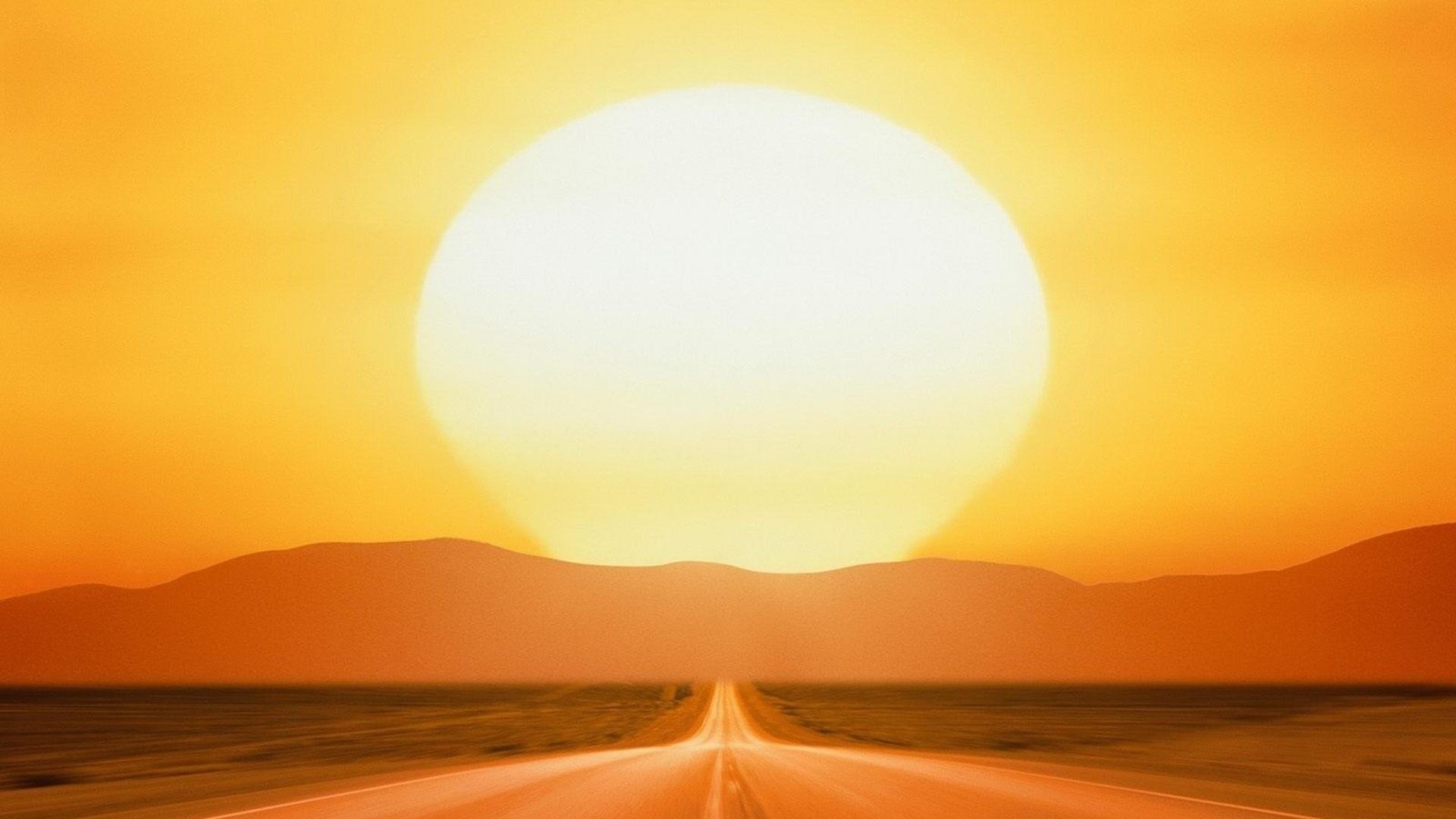 Уходящее солнце