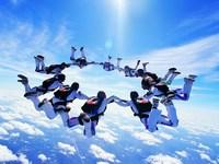 Обои для рабочего стола: Прыжки с парашютом