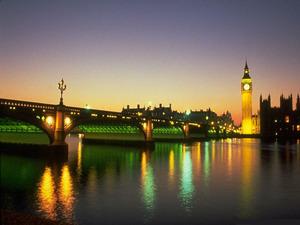 Обои Биг Бен ночью, Лондон