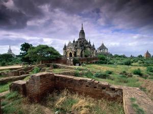 Обои Мьянма, руины храма в Багане