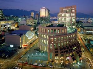 Обои Здание Библиотеки, Ванкувер, Канада