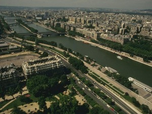 Обои Париж, вид с Эйфелевой башни