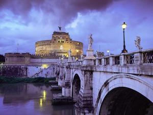 Обои Замок святого Ангела, Рим