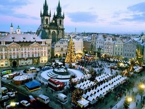 Обои Новогодняя Прага, Чехия