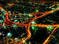 Обои для рабочего стола: Ночной Бангкок