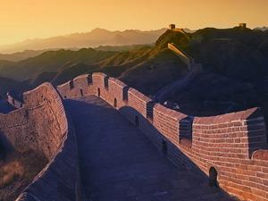 Обои Великая Китайская Стена на рассвете