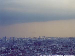 Обои Вид с Монмартра, Париж