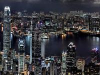 Обои для рабочего стола: Гонконг, вид на залив Виктория