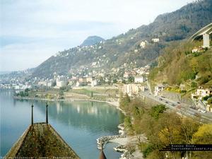 Обои Вид из Шильонского замка, Швейцария