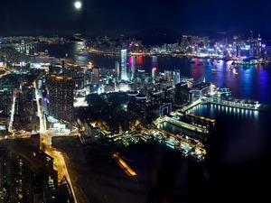 Обои Ночной Гонконг, КНР