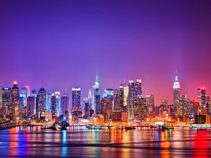 Обои Огни Нью-Йорка, США