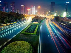 Обои Реки огней, Шанхай, Китай