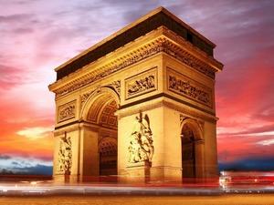 Обои Триумфальные ворота, Париж, Франция