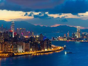 Обои Бухта Виктория, Гонконг