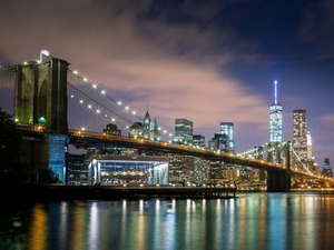 Обои Бруклинский Мост, Нью-Йорк, США