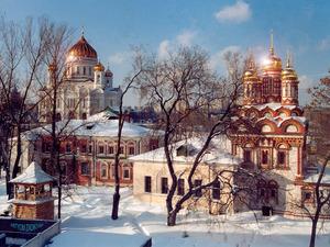 Обои Храм Христа Спасителя, Москва